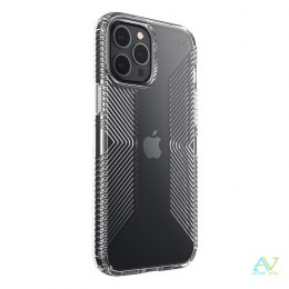 Speck Presidio Perfect-Clear with Grips - Etui iPhone 12 Pro Max z powłoką MICROBAN (Clear)